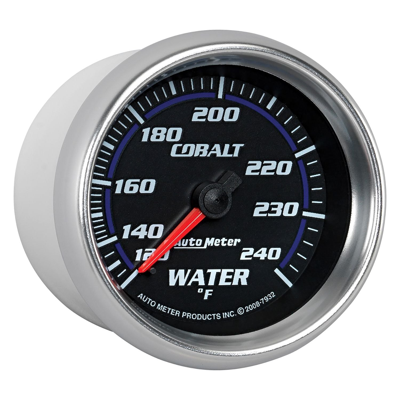 auto meter 7932 cobalt water temperature in dash gauge. Black Bedroom Furniture Sets. Home Design Ideas
