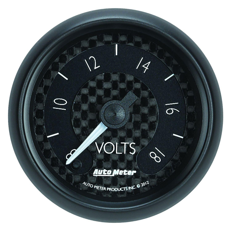 In Dash Digital Voltmeters : Auto meter gt series quot voltmeter gauge v