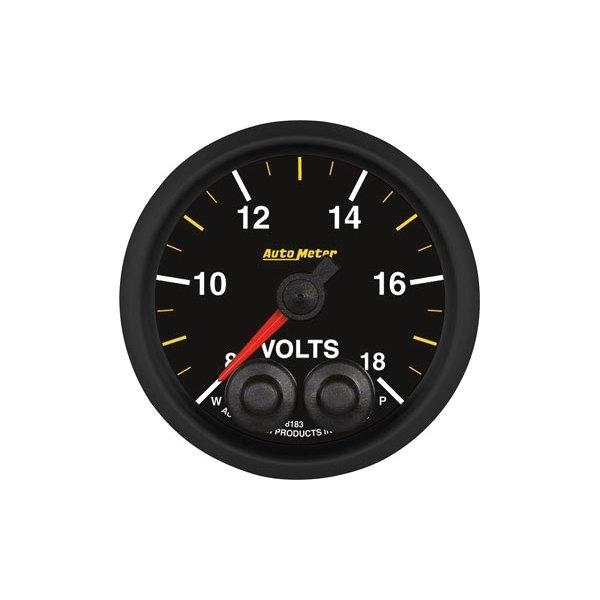 In Dash Digital Voltmeters : Auto meter elite nascar™ voltmeter in dash gauge