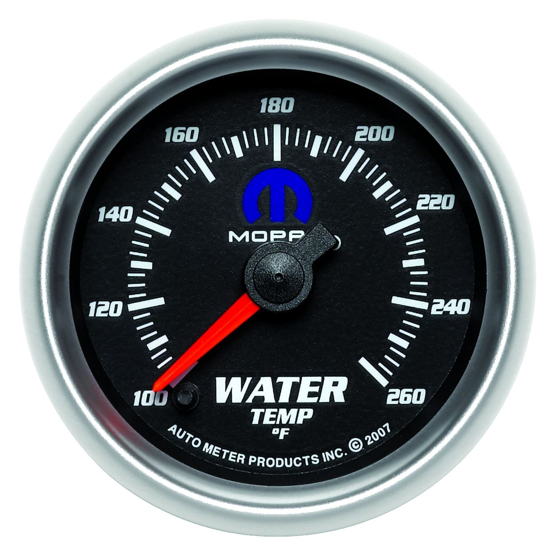 auto meter 880018 mopar water temperature in dash gauge. Black Bedroom Furniture Sets. Home Design Ideas