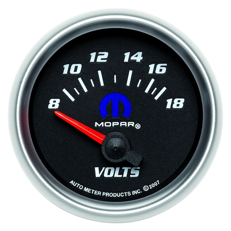 In Dash Digital Voltmeters : Auto meter  mopar™ voltmeter in dash gauge