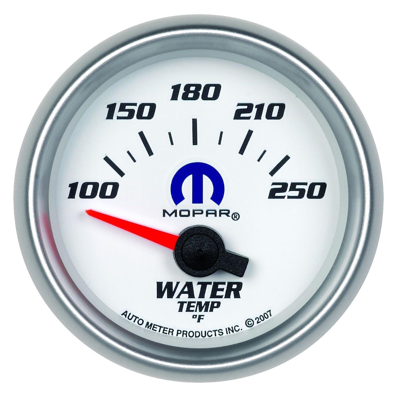 auto meter 880030 mopar water temperature in dash gauge. Black Bedroom Furniture Sets. Home Design Ideas