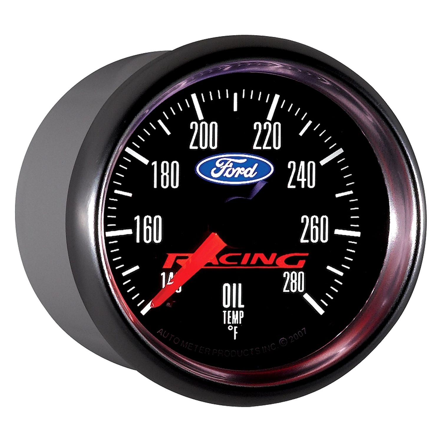 auto meter 880079 ford racing oil temperature in dash gauge ebay. Black Bedroom Furniture Sets. Home Design Ideas