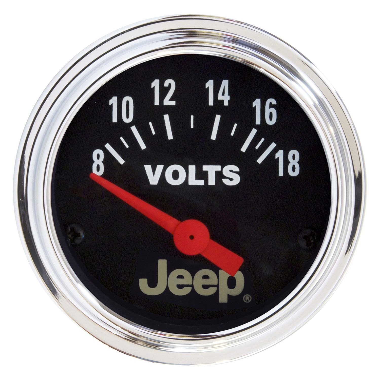 Voltmeters In Dash : Auto meter  jeep™ voltmeter in dash gauge