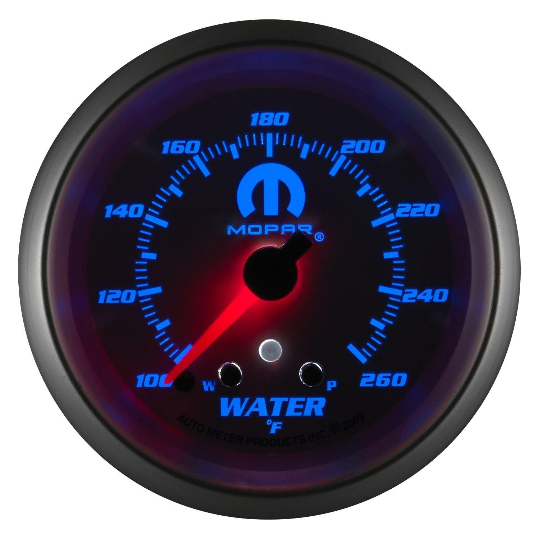 auto meter 880250 mopar water temperature in dash gauge. Black Bedroom Furniture Sets. Home Design Ideas
