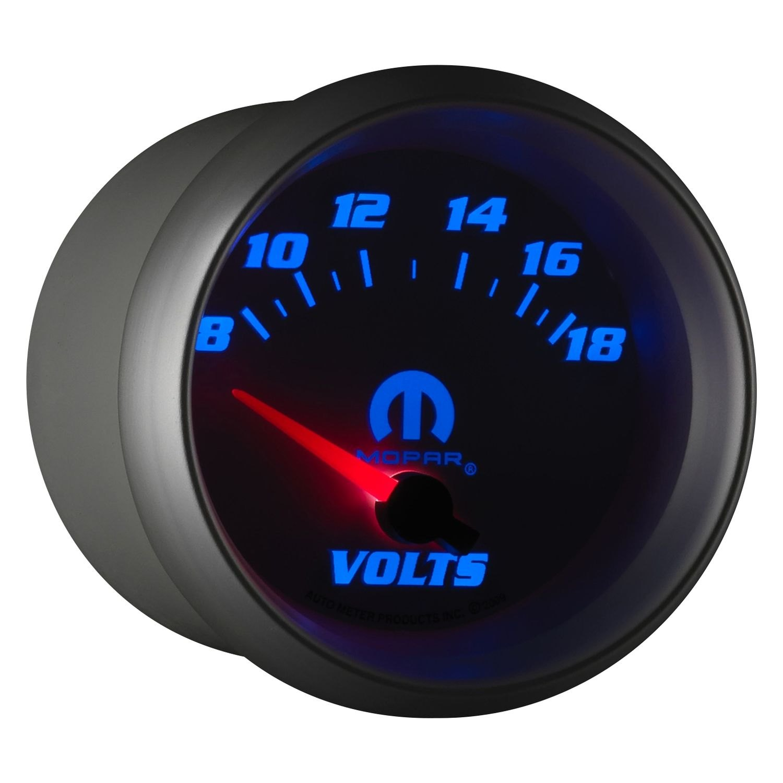 Voltmeters In Dash : Auto meter  mopar™ voltmeter in dash gauge