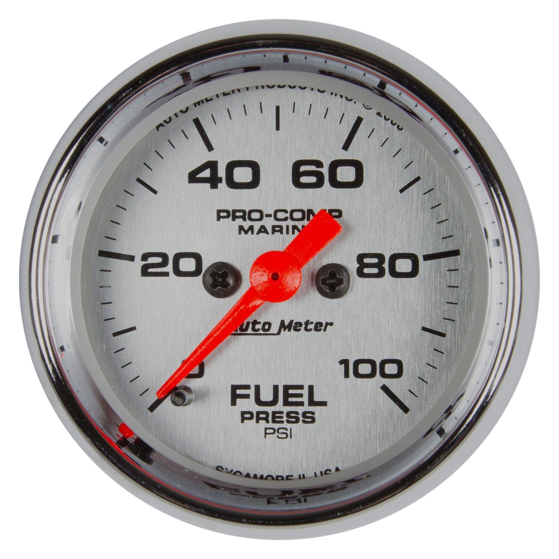 Auto meter  marine chrome™ fuel pressure in