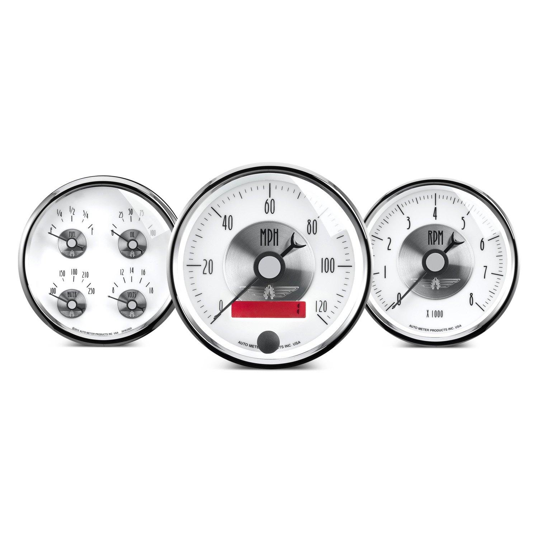 Auto Meter 6832 Pro Stock Silver Tachometer