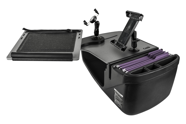 Autoexec 174 10046 Reach Gray Front Seat Desk With Ipad