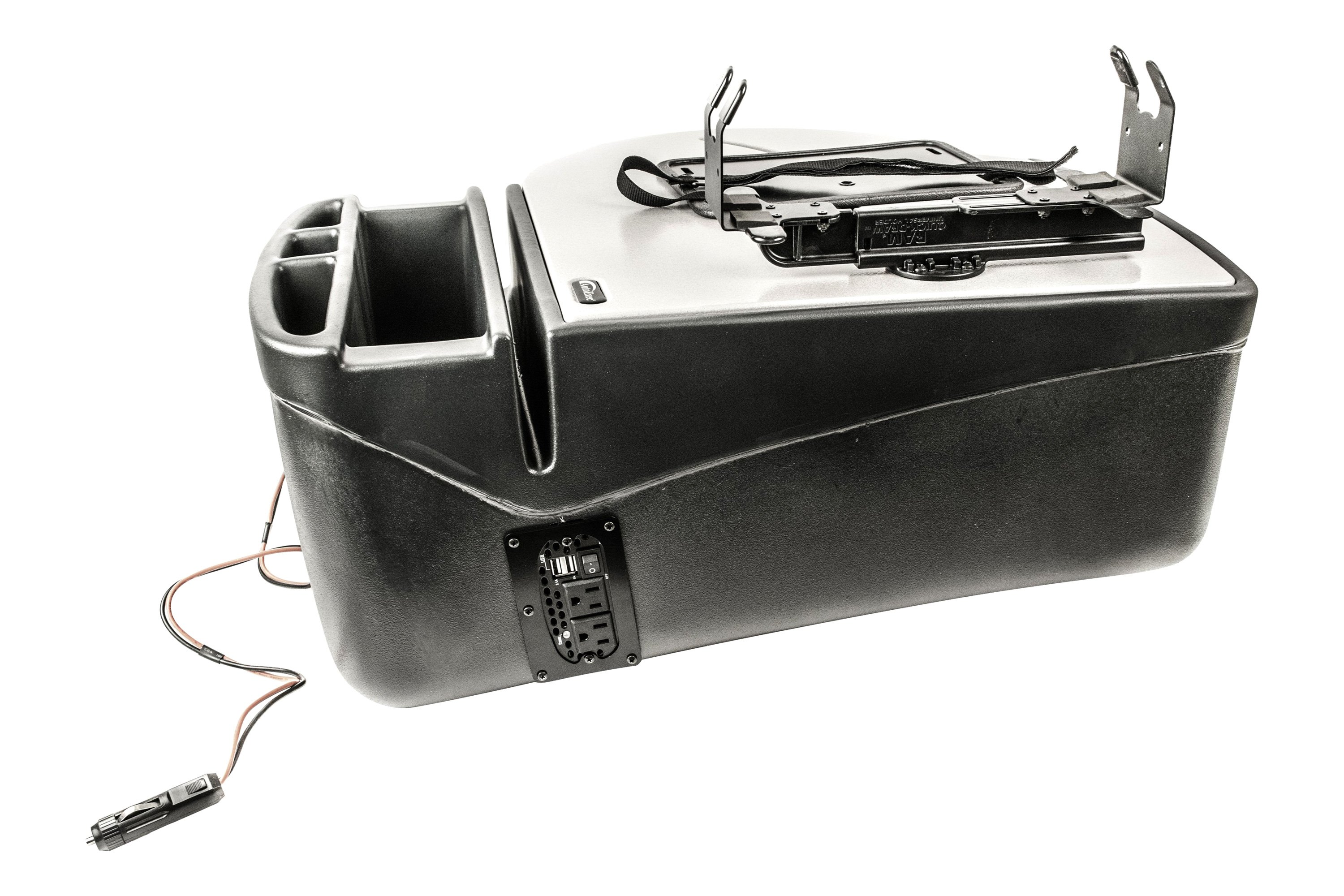 Mountautoexec Roadmaster Car Desk With Built In 200w Inverter And Printer