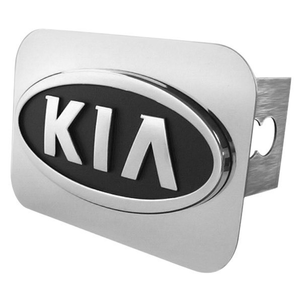 Autogold t kia oem c chrome hitch cover with kia logo for Garage kia 95