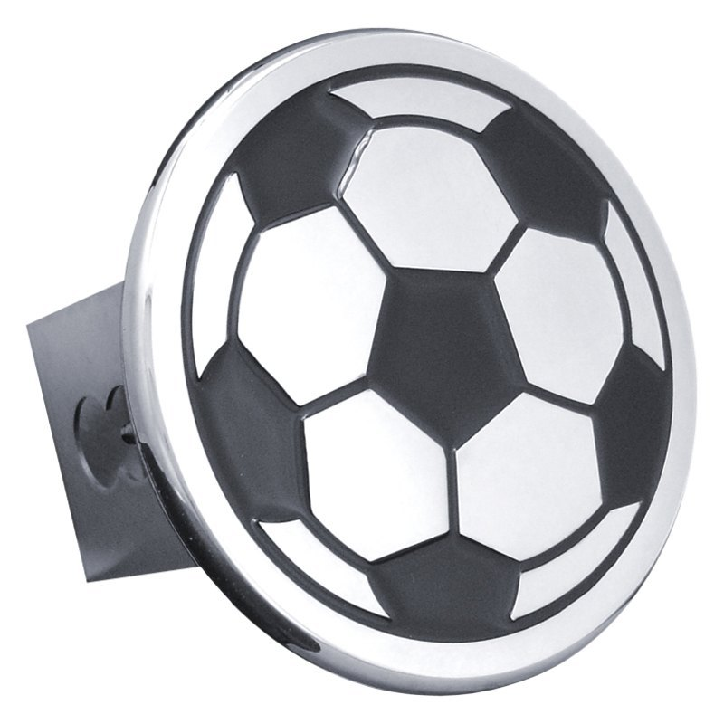 autogold174 tsocc chrome hitch cover with soccer ball