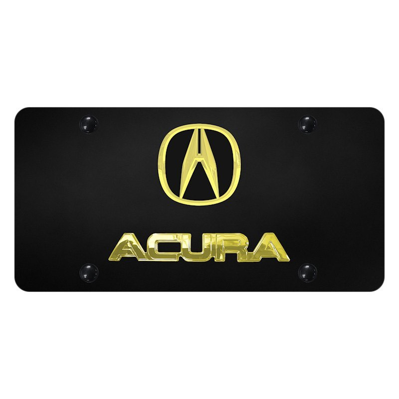 Acura Red Emblem: License Plate With Acura Logo And Emblem