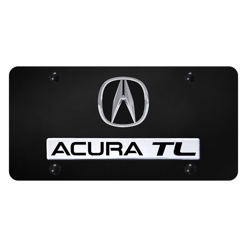 Black License Plate With 3D Chrome