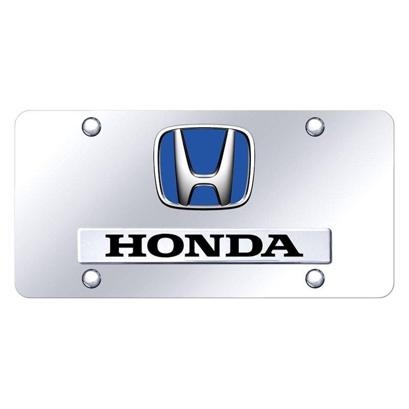 Autogold® D.HON.BL.CC - Chrome License Plate with Chrome ...