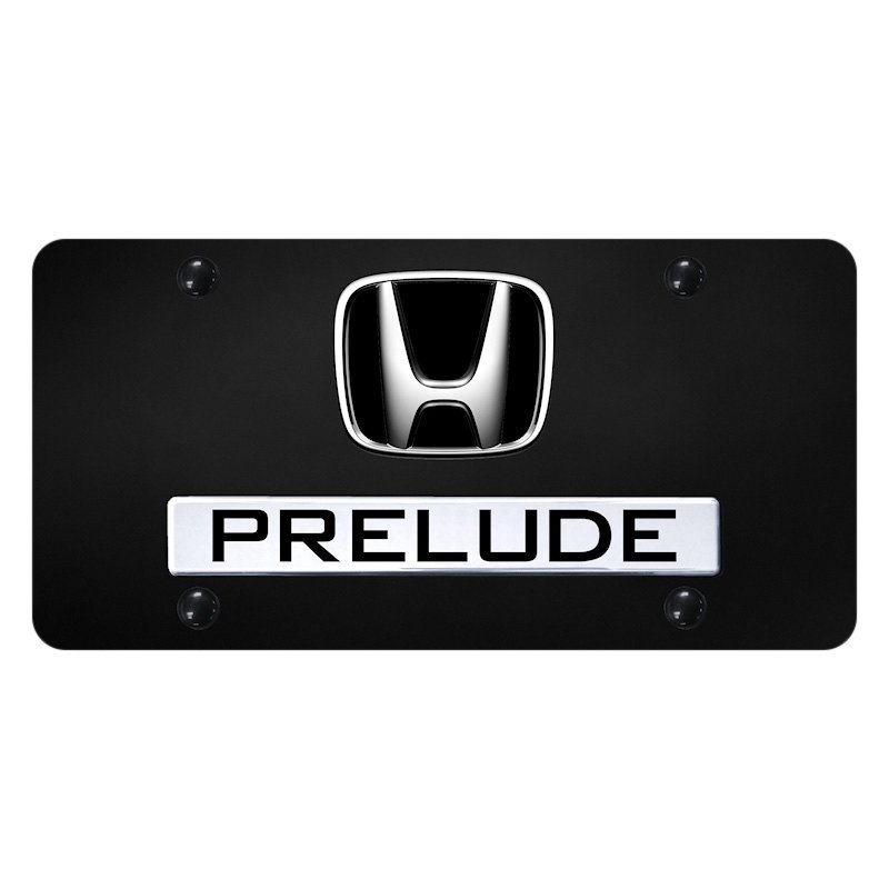 Autogold 174 License Plate With 3d Prelude Logo And Honda
