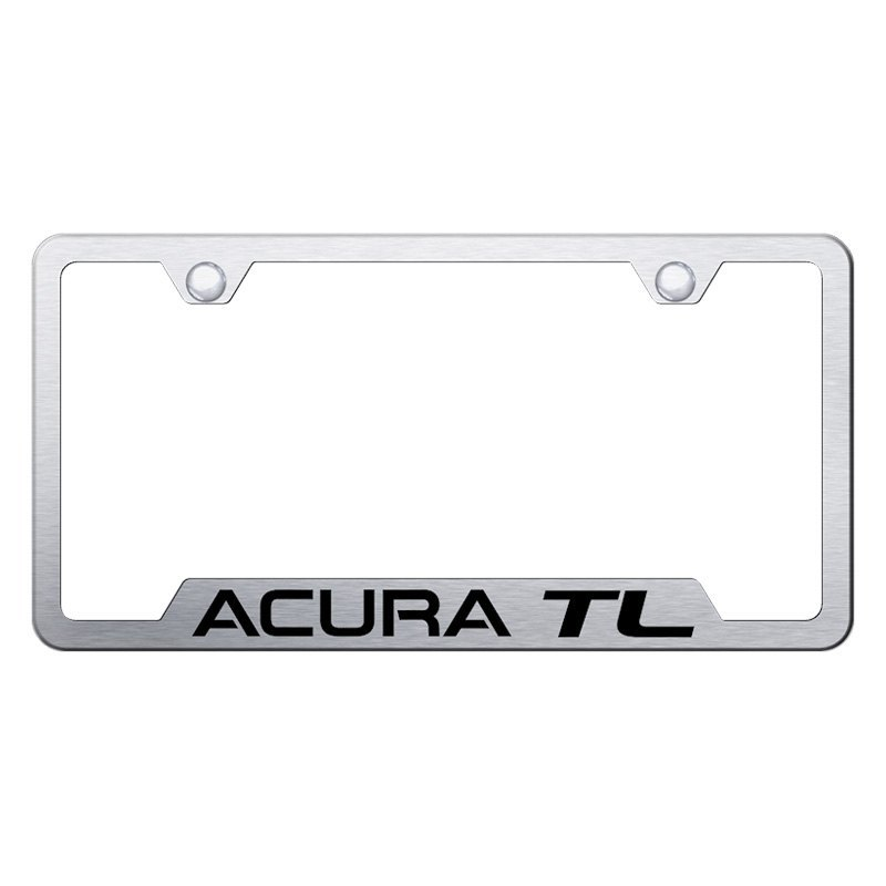 Brushed License Plate Frame With