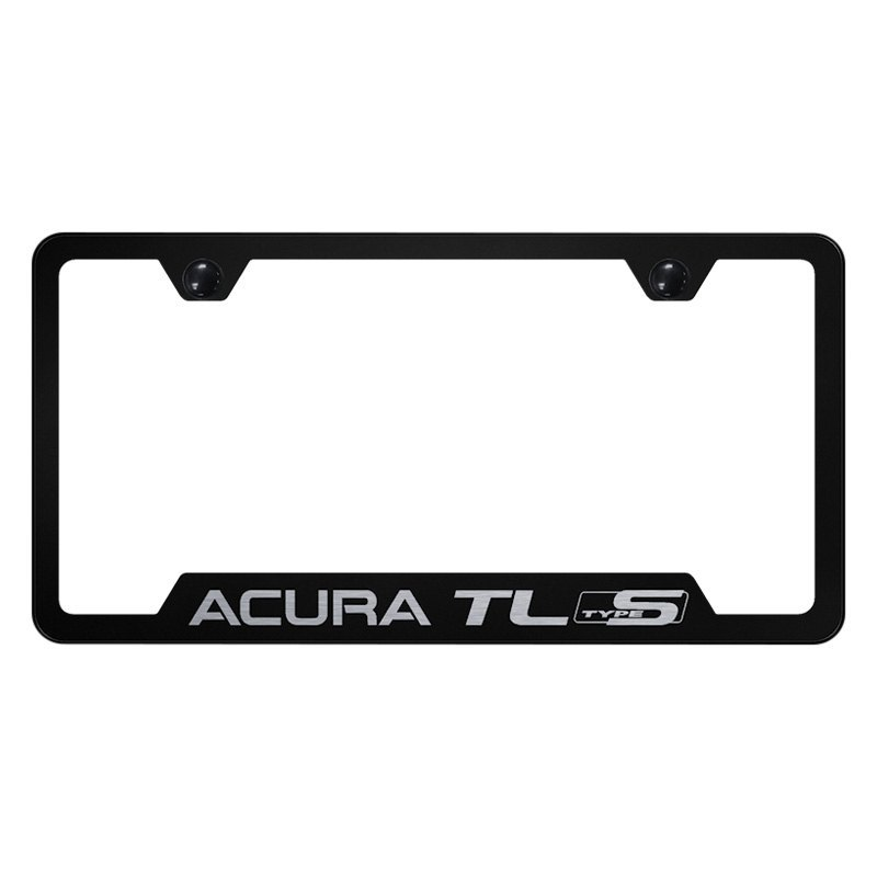Black License Plate Frame With