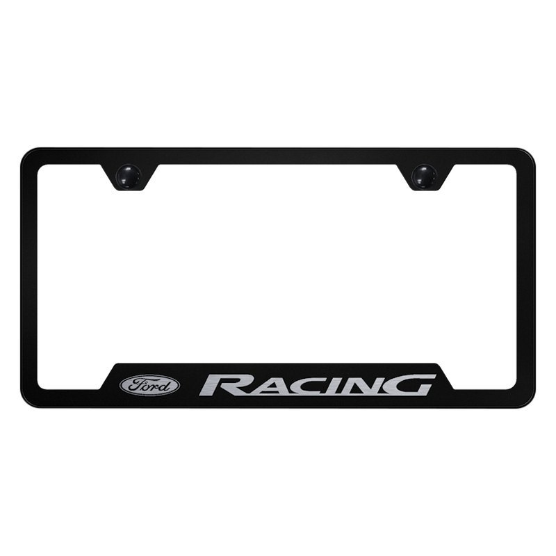Autogold® GF.FORR.EB - Black License Plate Frame with Laser Etched ...