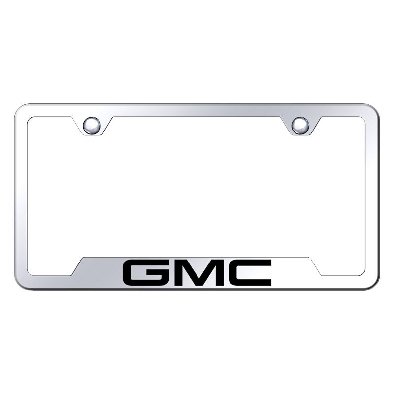 Autogold® GF.GMC.EC - Chrome License Plate Frame with Laser Etched ...