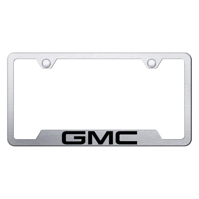 Autogold® - License Plate Frame with Laser Etched GMC Logo