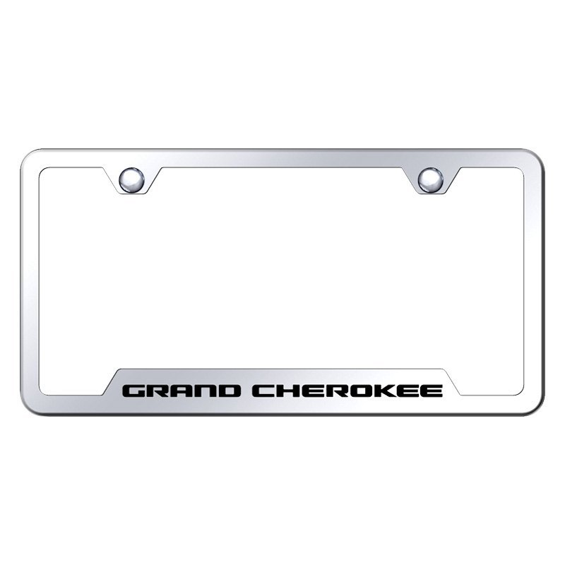 Autogold® GF.GRA.EC - Chrome License Plate Frame with Laser Etched ...
