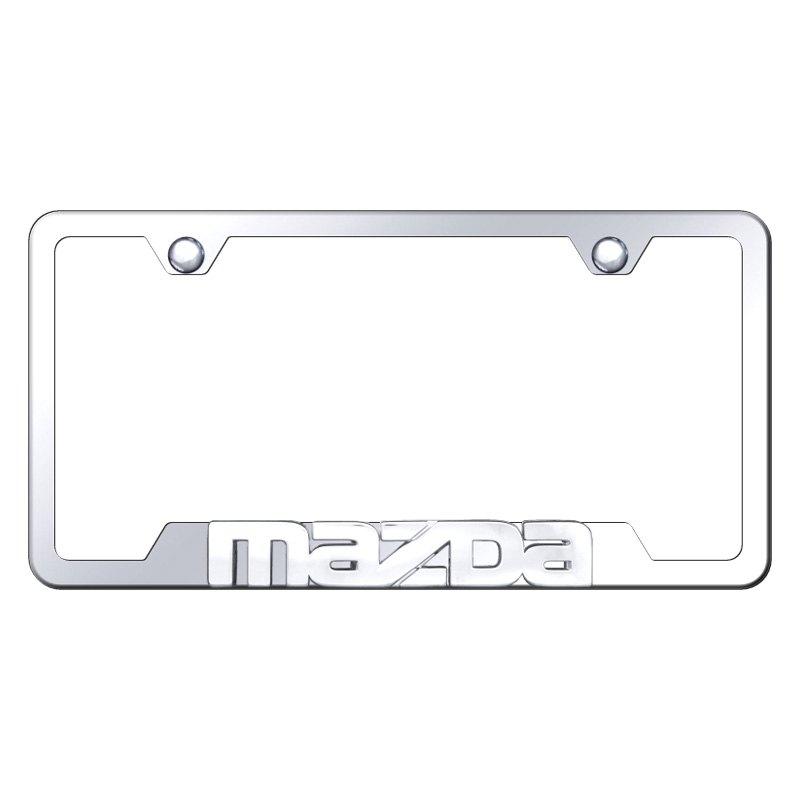 Autogold® - License Plate Frame with 3D Mazda Logo - CARiD.COM