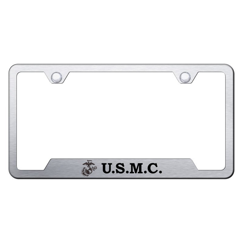 Autogold® - License Plate Frame with Laser Etched Military Logo