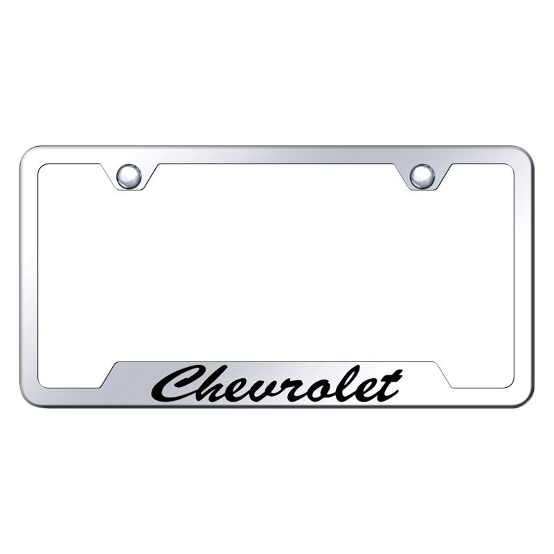 Autogold® GFS.CHV.EC - Chrome License Plate Frame with Script Laser ...