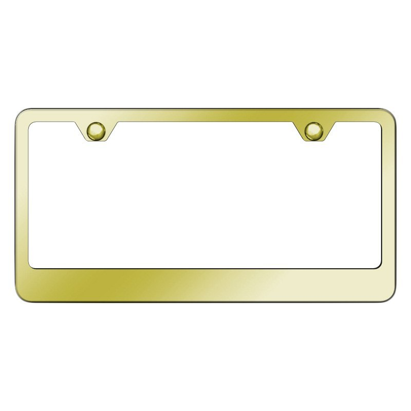 Autogold® LF.462.G - 2-Hole Bottom Gold License Plate Frame