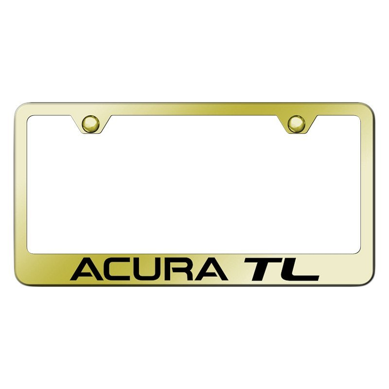 Gold License Plate Frame With Laser