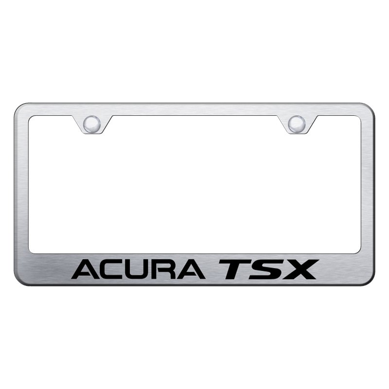 Brushed License Plate Frame With Laser Etched