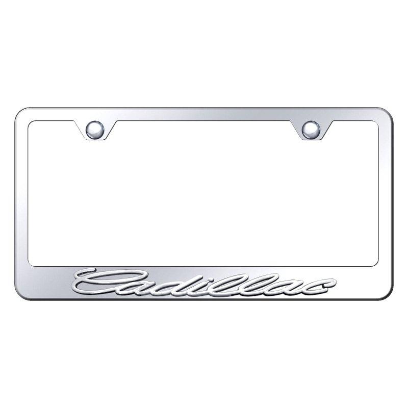 Autogold® LF.CAD.CC - Chrome License Plate Frame with 3D Chrome ...
