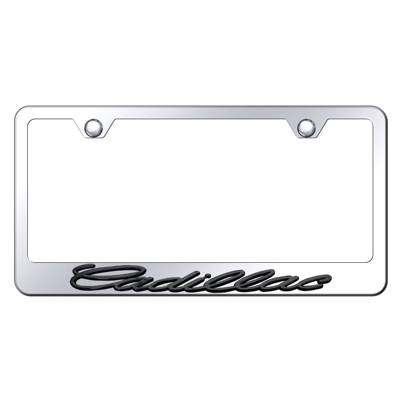 2X Cadillac XTS Stainless Steel License Plate Frame Rust Free W// Bolt Caps