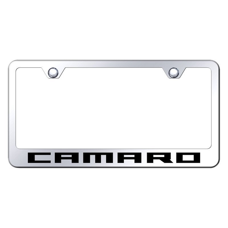 Autogold® LF.CMR.EC - Chrome License Plate Frame with Laser Etched ...