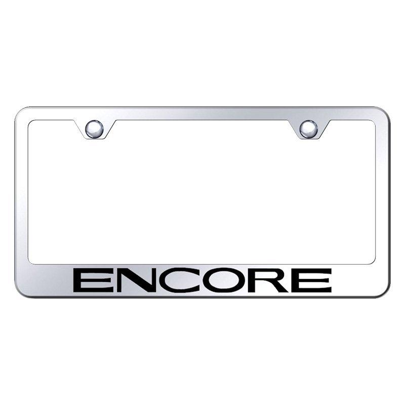 Autogold® LF.ENCO.EC - Chrome License Plate Frame with Laser Etched ...
