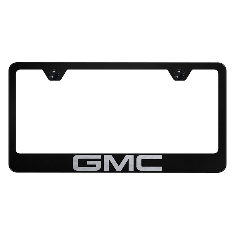 License Plate Frame with Laser Etched GMC Logo
