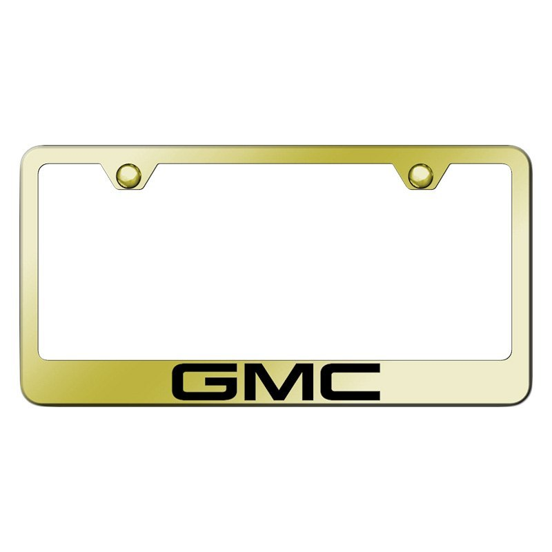 Autogold® LF.GMC.EG - Gold License Plate Frame with Laser Etched GMC ...