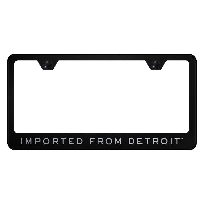 Autogold 174 License Plate Frame With Laser Etched Imported