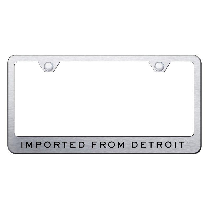 Autogold® LF.IFD.ES - Brushed License Plate Frame with Laser Etched ...