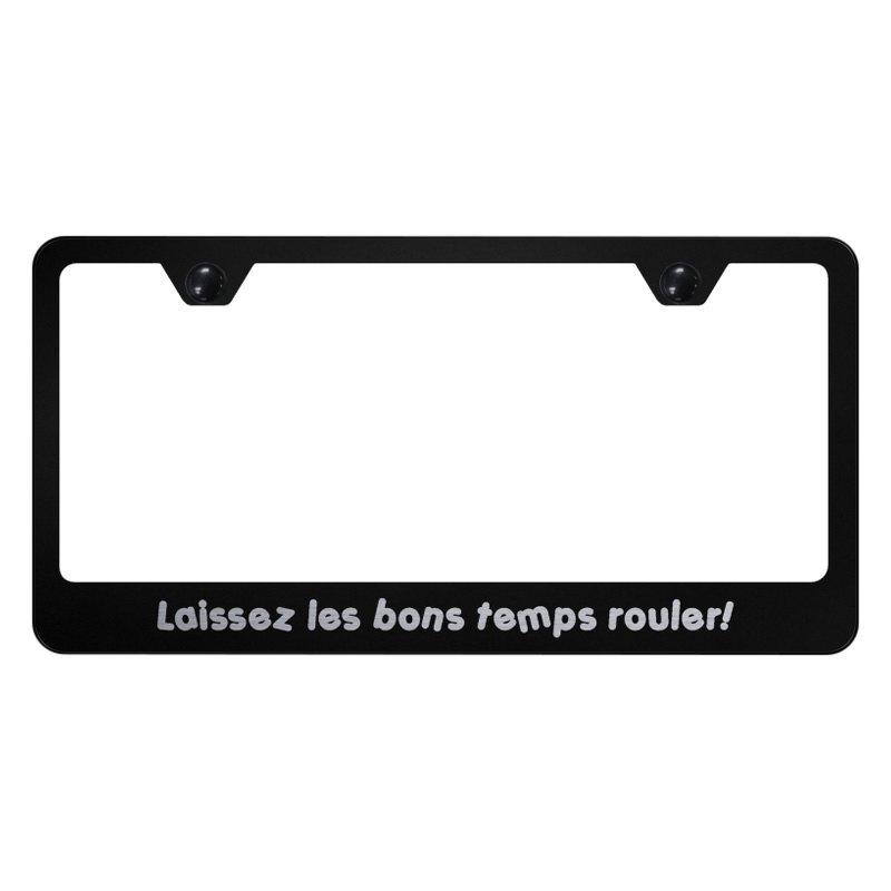 Autogold Lf Laissez Eb Black License Plate Frame With Laser