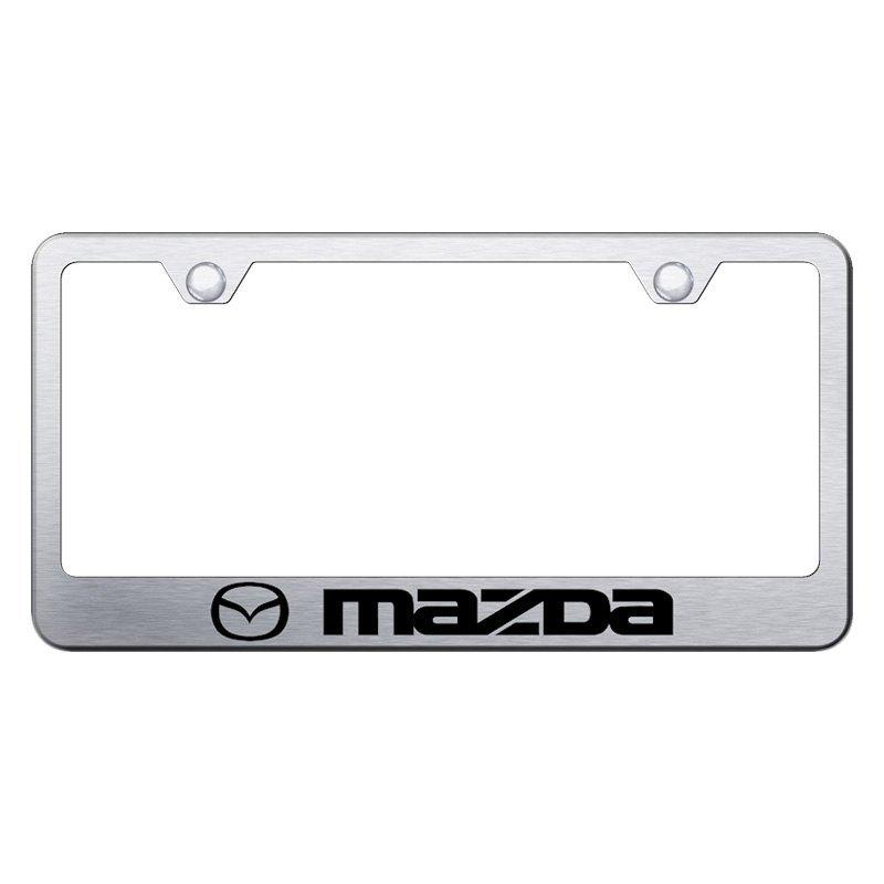 Autogold® - License Plate Frame with Laser Etched Mazda Logo
