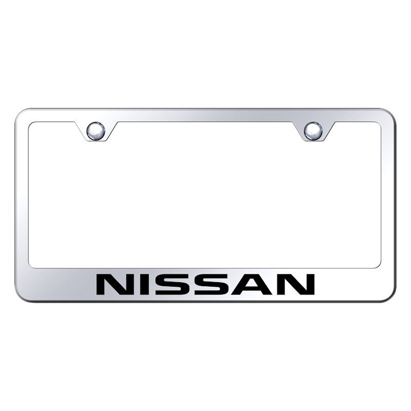 Autogold® LF.NIS.EC - Chrome License Plate Frame with Laser Etched ...
