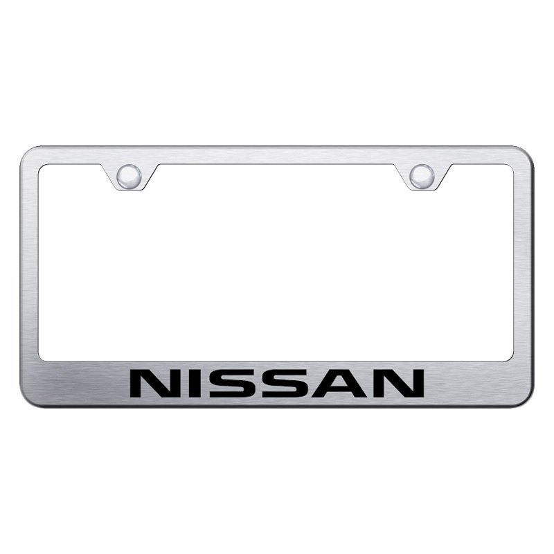 Autogold® - License Plate Frame with Laser Etched Nissan Logo
