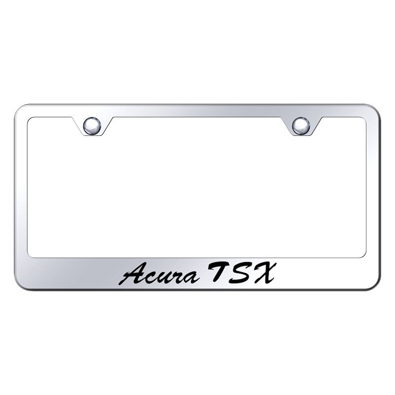 Autogold License Plate Frame With Script Laser Etched Acura TSX Logo - Acura license plate