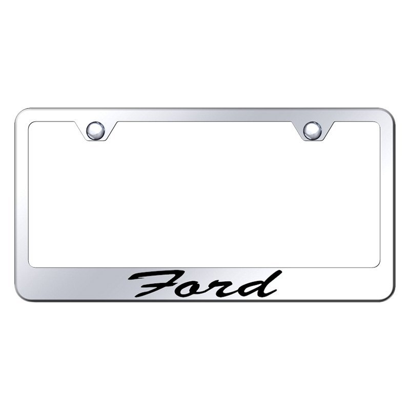 Autogold® - License Plate Frame with Script Laser Etched Ford Logo
