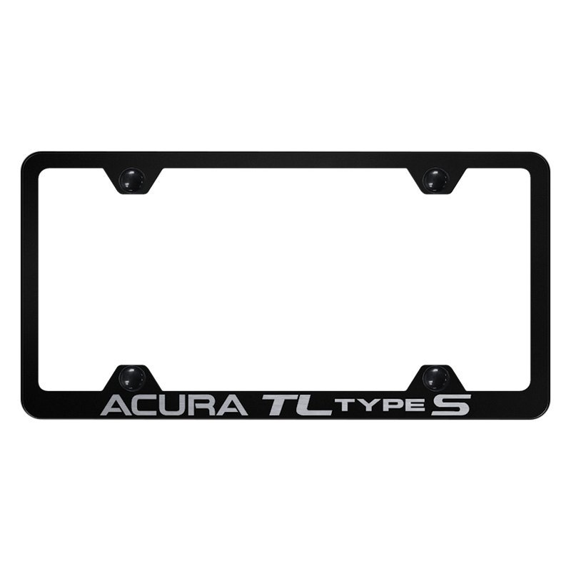 Autogold® - Wide Body License Plate Frame with Laser Etched Acura TL ...