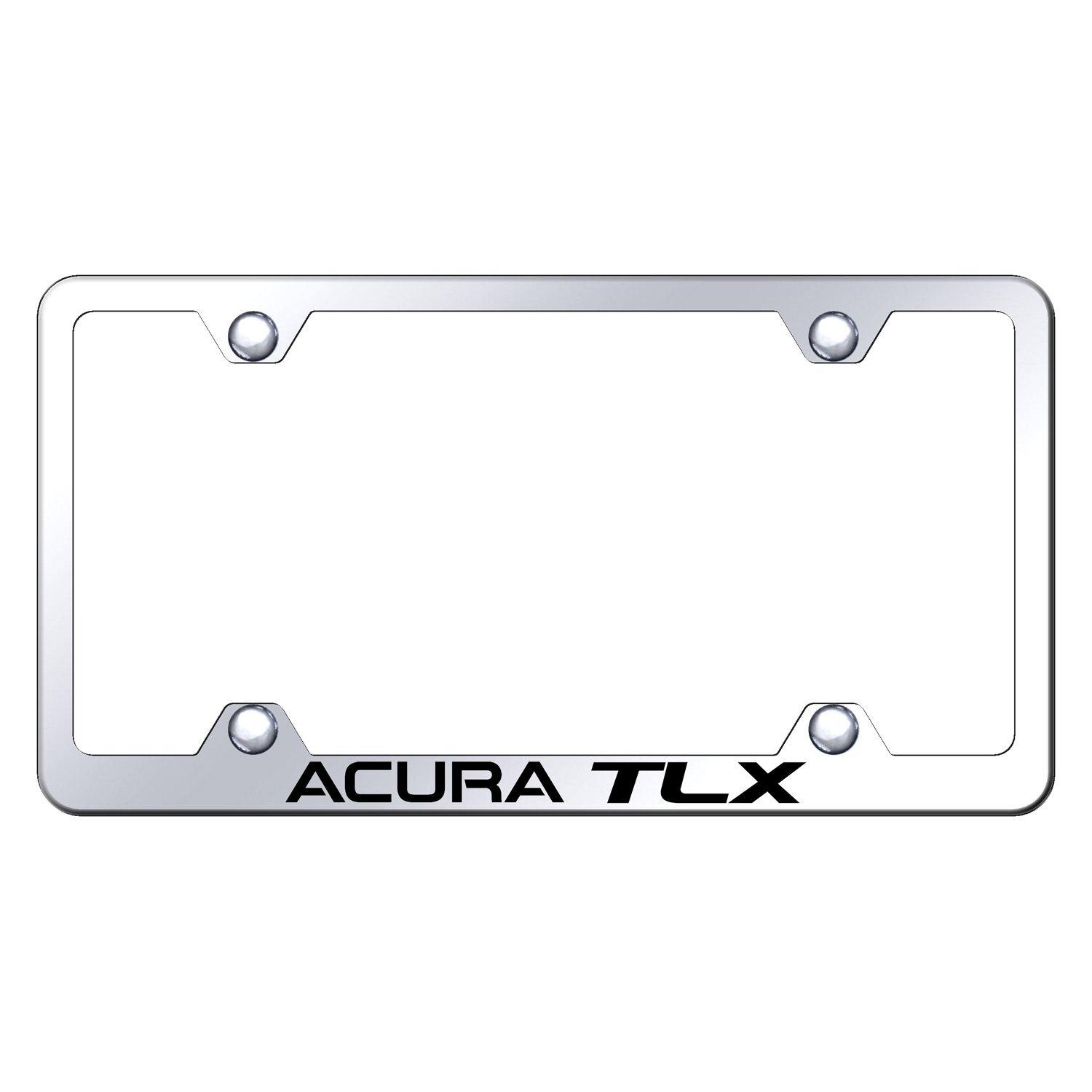 Wide Body Chrome License Plate