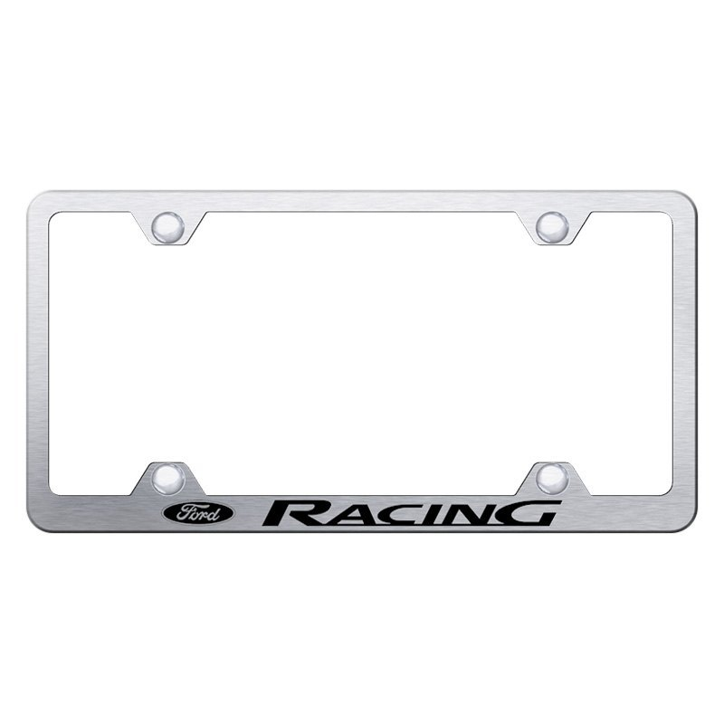 Autogold® - Wide Body License Plate Frame with Laser Etched Ford ...