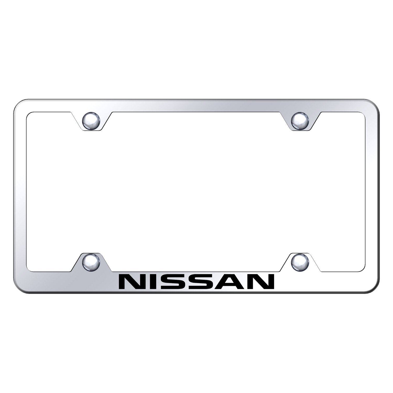 autogold wide body license plate frame with laser etched nissan logo